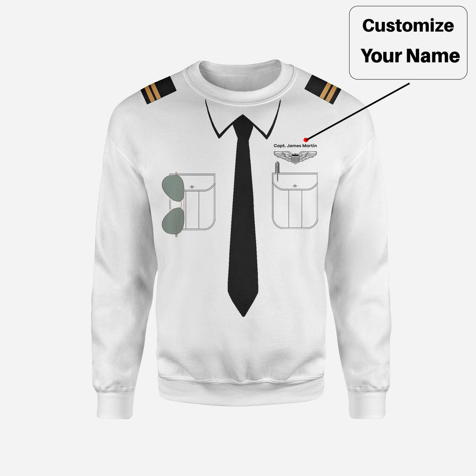 Customizable Pilot Uniform Designed 3D Sweatshirts