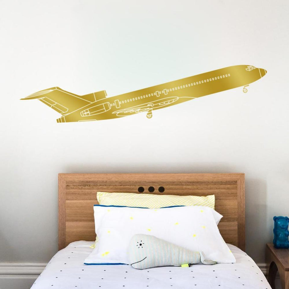 3 Engine Passenger Jet Designed Wall Stickers