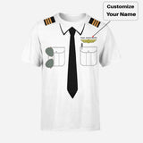 Customizable Pilot Uniform (Badge 2) Designed 3D T-Shirts