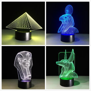 3D Ancient Egypt Anubis Designed Night Lamps