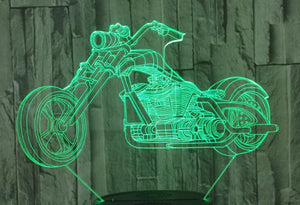 3D Classic Motorcycle Designed Night Lamp