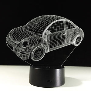 3D Cool Beetle Car Designed Night Lamp
