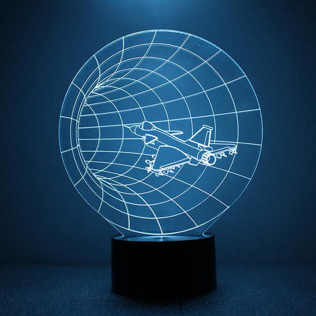 3D Cruising Jet Airplane Designed Night Lamp