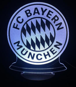 3D FC Bayern Munchen Designed Night Lamp