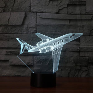 3D Jet Airplane Designed Night Lamp