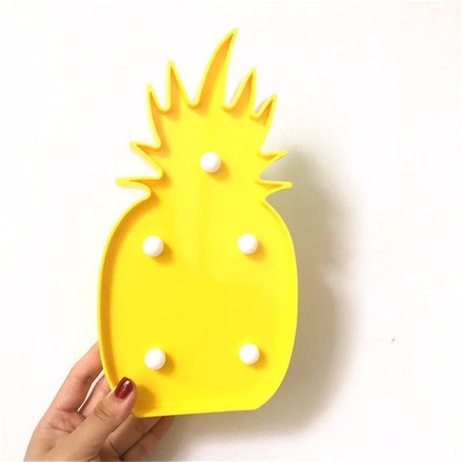 3D LED Pineapple & Cactus Night Lamp