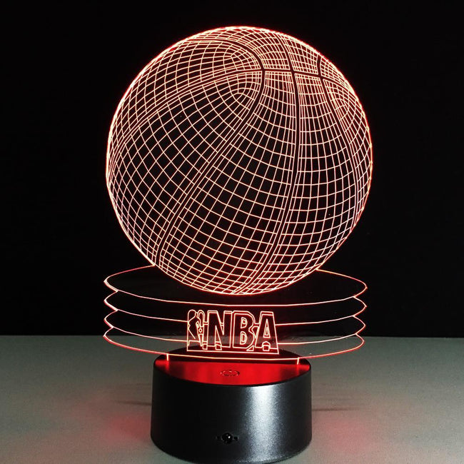 3D NBA & Basketball Designed Night Lamp