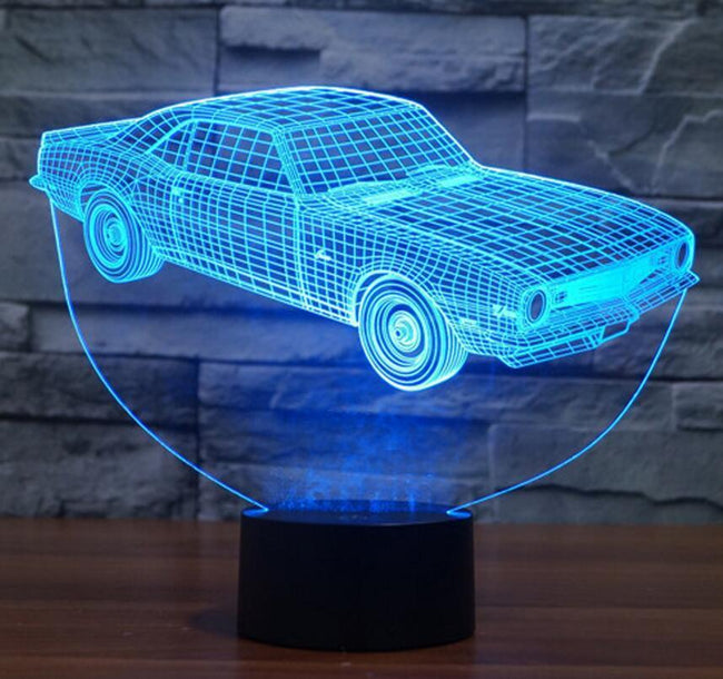 3D Old Classics Car Designed Night Lamp