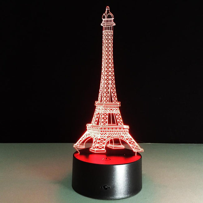 3D Paris Eiffel Tower Designed Night Lamp