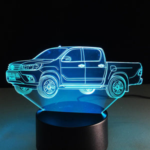 3D Truck Car Designed Night Lamp