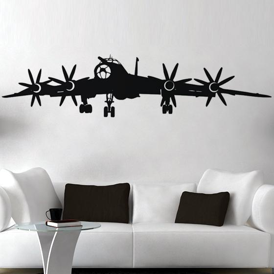 4 Engine Propeller Aircraft Designed Wall Sticker