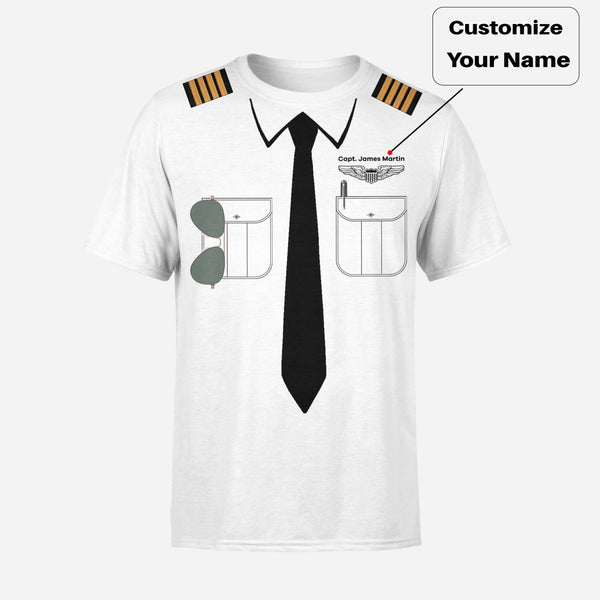 Customizable Pilot Uniform Designed 3D T-Shirts
