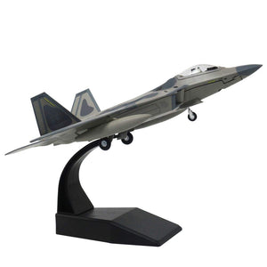 1/100 Scale USAF F-22 Raptor Stealth Fighter Airplane Model