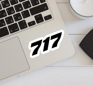 717 Flat Text Designed Stickers
