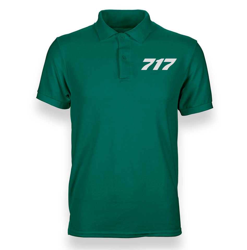 Boeing 717 Flat Text Designed Polo T-Shirts