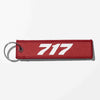 Boeing 717 Flat Text Designed Key Chains