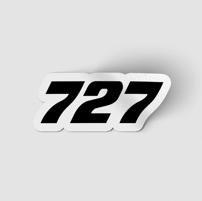 727 Flat Text Designed Stickers