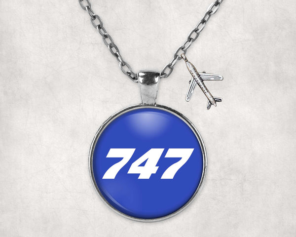 747 Flat Text Designed Necklaces