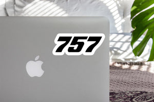 757 Flat Text Designed Stickers