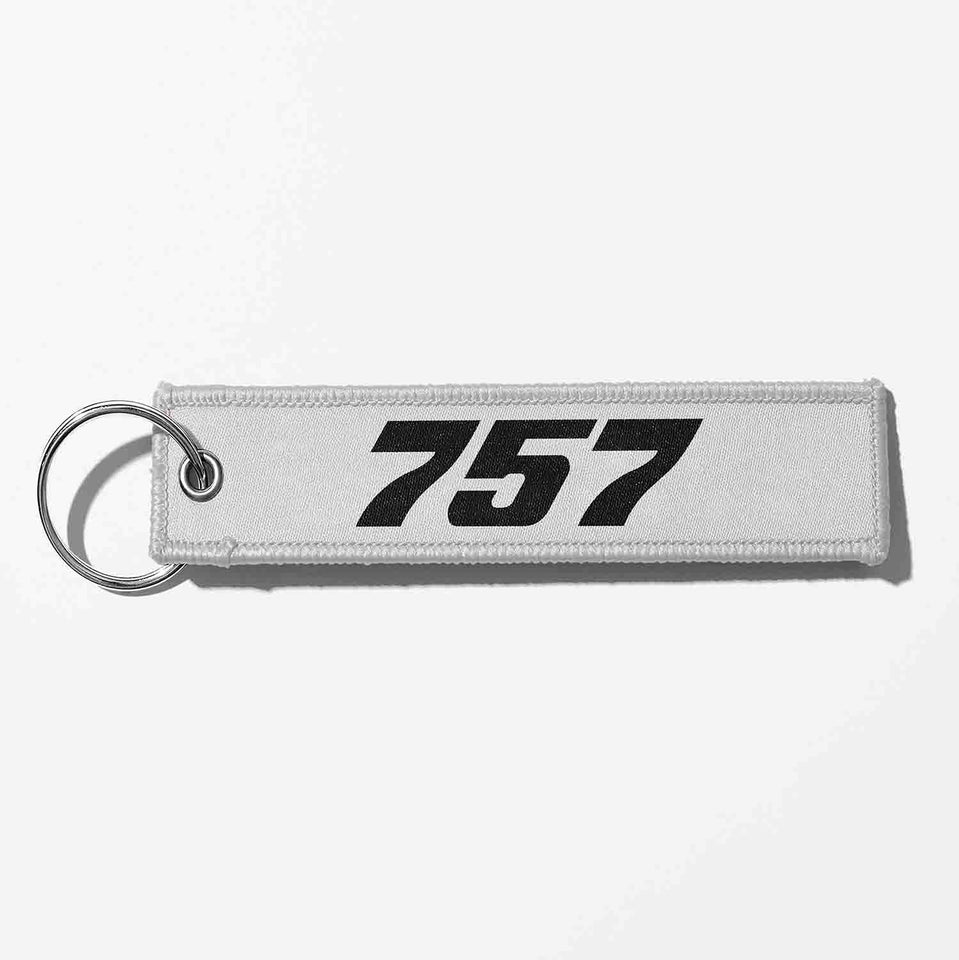 Boeing 757 Flat Text Designed Key Chains