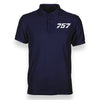 Boeing 757 Flat Text Designed Polo T-Shirts