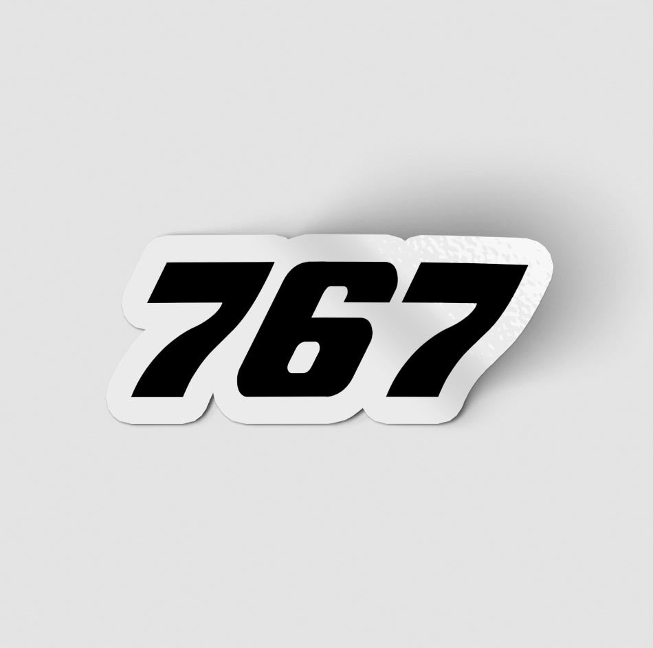 767 Flat Text Designed Stickers