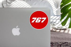 767 Flat Text Red Designed Stickers