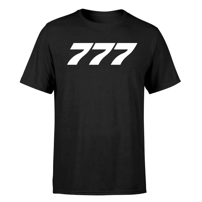 777 Flat Text Designed T-Shirts