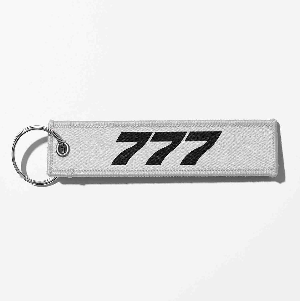 Boeing 777 Flat Text Designed Key Chains