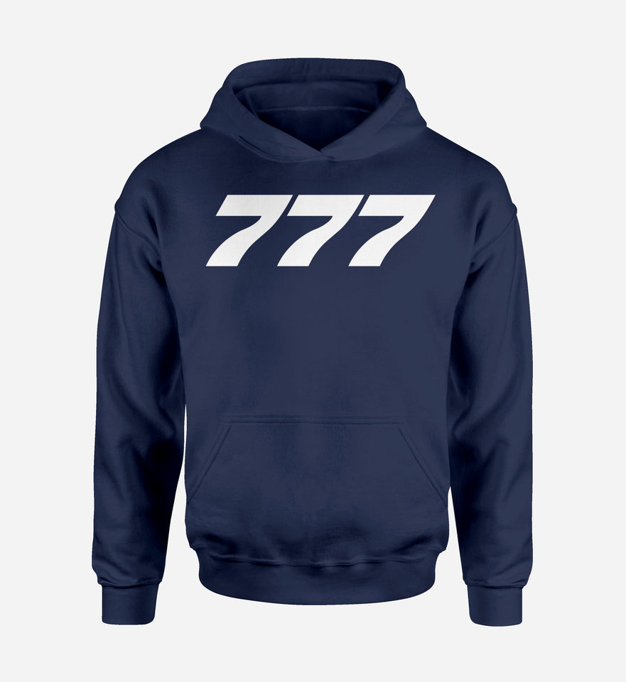 777 Flat Text Designed Hoodies
