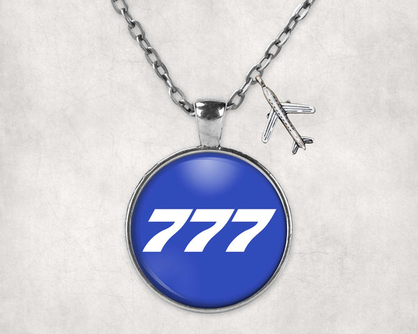 777 Flat Text Designed Necklaces