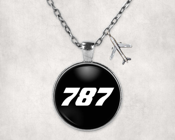787 Flat Text Designed Necklaces