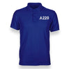 A220 Flat Text Designed Polo T-Shirts