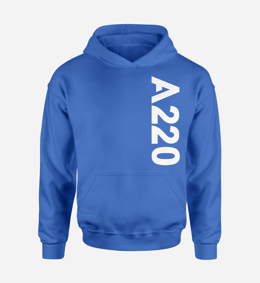 A220 Side Text Designed Hoodies