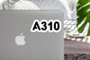 A310 Flat Text Designed Stickers