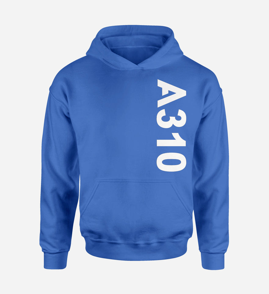 A310 Side Text Designed Hoodies