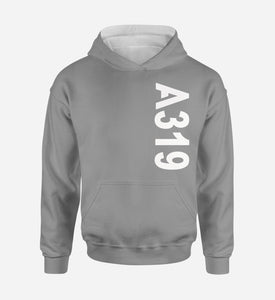 A319 Side Text Designed Hoodies