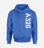 A320 Side Text Designed Hoodies