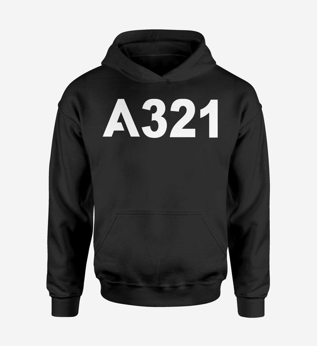 A321 Flat Text Designed Hoodies