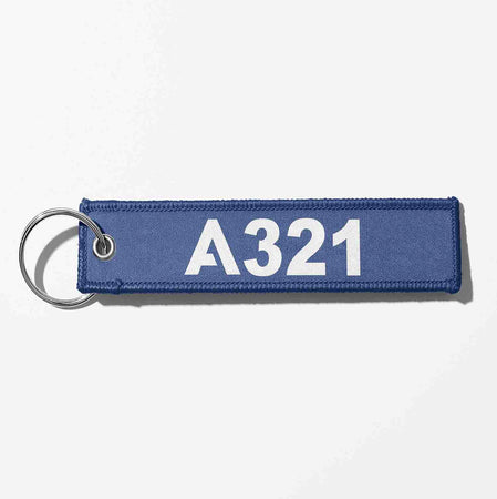 A321 Flat Text Designed Key Chains