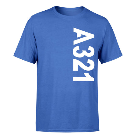 A321 Side Text Designed T-Shirts
