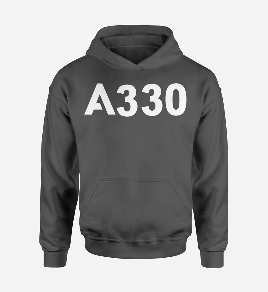 A330 Flat Text Designed Hoodies