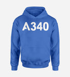 A340 Flat Text Designed Hoodies