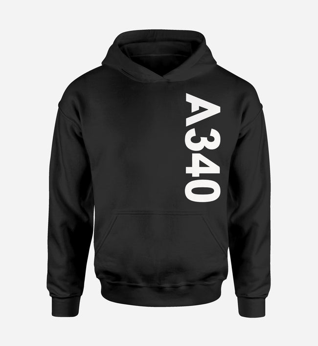 A340 Side Text Designed Hoodies