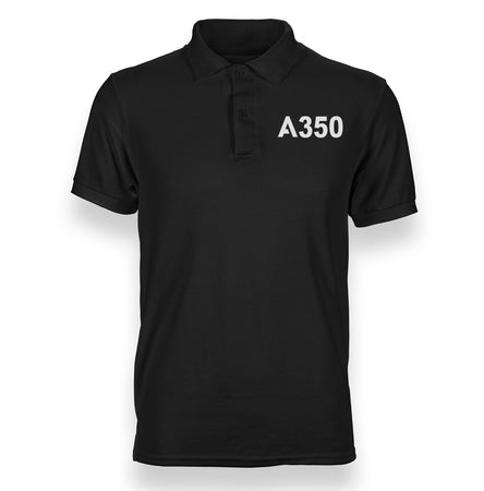 A350 Flat Text Designed Polo T-Shirts