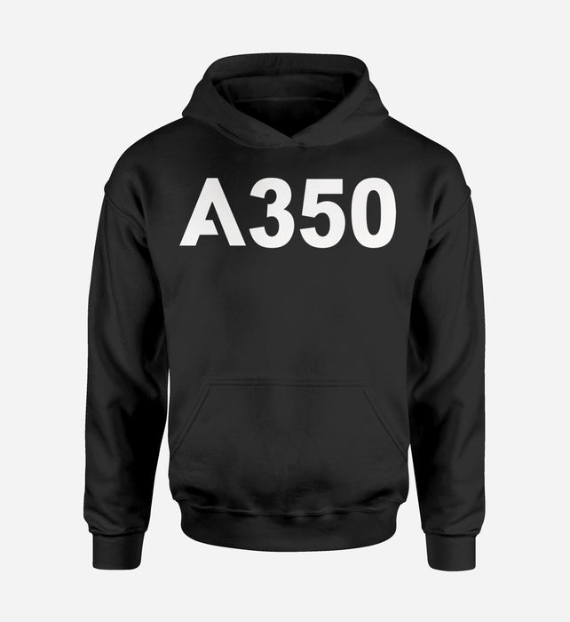 A350 Flat Text Designed Hoodies