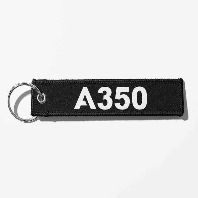 A350 Flat Text Designed Key Chains