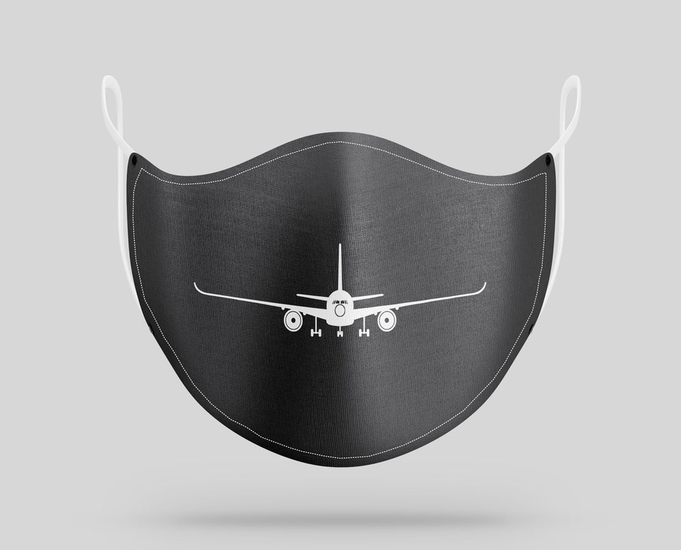 Airbus A350 Silhouette Designed Face Masks