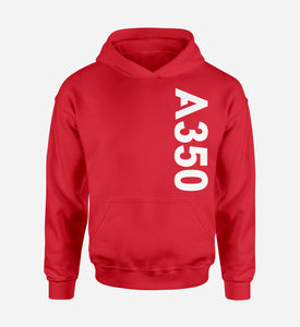 A350 Side Text Designed Hoodies
