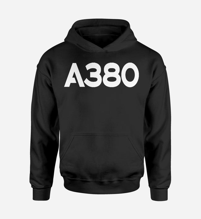 A380 Flat Text Designed Hoodies